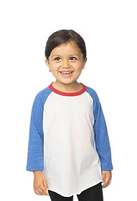 Toddler Americana Raglan Baseball Shirt