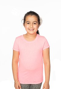 Youth Burnout Wash Short Sleeve Girls Tee