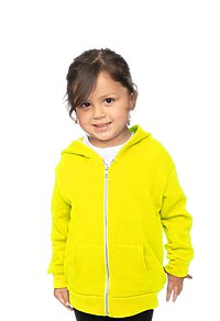 Toddler Fashion Fleece Neon Zip Hoodie