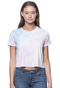 Weekend Watercolor Tie Dye Boxy Crop